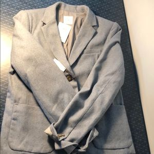 NWT Gap Sz12 Academy Blazer (gray/light blue)